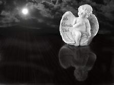Grabengel Engel Schutzengel Grabschmuck Deko Engelfigur mit Spruch  Flügel