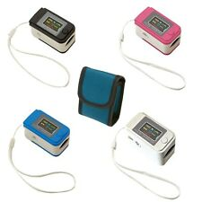 Fingertip Pulse Oximeter, Pulse Saturation Heart Rate Monitor with Pouch