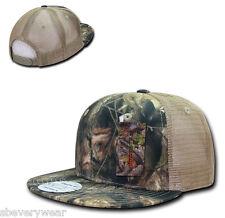 Camo Camouflage Gray Bark Tan Hunting Fishing Mesh Trucker Snapback Hat Cap Hats