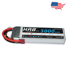 HRB 5000mAh 11.1V 50C-100C 3S RC LiPo Battery Deans Plugs For Drone Airplane Car