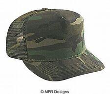 BLANK Solid Camo Cotton Mesh Snap Back Cap Trucker Mesh Hat