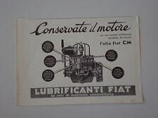 advertising Pubblicità 1935 OLIO LUBRIFICANTE FIAT CM