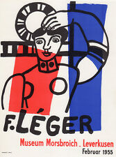 "Fernand LEGER Morsbroich Museum Exhibition Poster ""Leger Composition"" FRAMED COA"