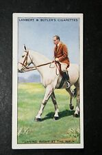 Horse Riding Skills   Turning a Horse    Original 1930's Vintage Card  VGC