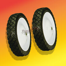 2  Front Steel Wheels Fits Lesco 050221 Walk Behind Mowers 7 x 1.75
