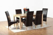 Synthetic Leather G1 Dining Chairs (Pair) in Expresso Brown