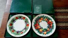 Lenox Colonial Christmas Wreath Collector Plates 1983 and 1988