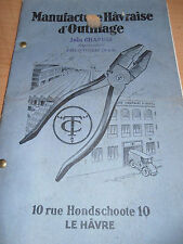 catalogue d'outillage du Havre - pince - lime - clefs -  ( ref 6 )