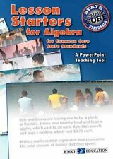 Lesson Starters for Algebra for Common Core State Standards by Walch Education
