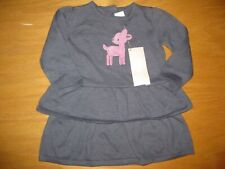 Nwt Gymboree Cozy Critters 6-12 Months Gray Deer Sweater Dress
