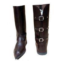 Leather Mens Renaissance Fair Medieval Knight Pirate Warrior Steampunk Boots dx1