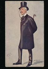 Political SIR SQUIRE BANCROFT Artist SPY Used 1909 PPC