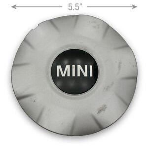 "1 OEM 07-13 Mini Cooper 6770999 15"" 6 Spoke Wheel Center Caps Hubcap Silver"