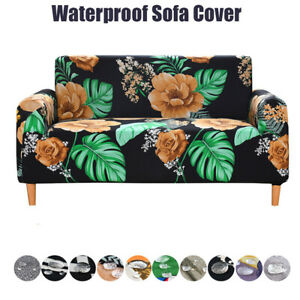 1/2/3/4 Seater Stretch Elastic Slipcovers Sofa Cover Room Couch Armchair Cover