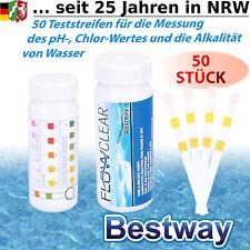 Pool pH Chlor Wert Tester Wassertester 3in1 Whirlpool Teststreifen Pooltester