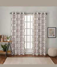 Home Kochi Linen Blend Window Grommet Curtain Panel Pair Natural Color 54 × 63in