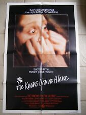 Vintage Movie Poster 1 Sheet Variation 1980 He Knows You're Alone Don Scardino