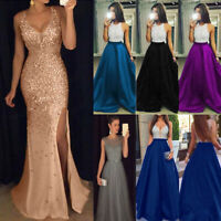 Women Formal Wedding Bridesmaid Long Evening Party Ball Prom Gown Dress 0