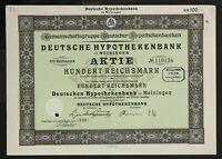 🇩🇪GERMANY 831/B&V -Deutsche Hypothekenbank in Meiningen 1925 100 RM🇩🇪