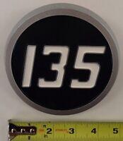 1865460M1 Two (2) Plastic Hood Emblems Fits Massey Ferguson Tractor 135