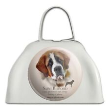 Saint Bernard Dog Breed White Metal Cowbell Cow Bell Instrument