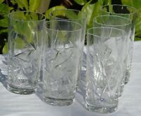 Service de 6 verres à orangeade en cristal de Bohème