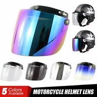 Motorcycle Wind Shield Helmet Lens Sun 3-Snap Visor Full Open Face Flip Up Down