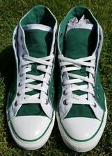 Converse Double Upper High Tops Green White Mens Size 9 Pre-owned