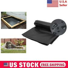 5'x10' Fish Pond Liner Gardens Pools HDPE Black Membrane Reinforced Landscaping