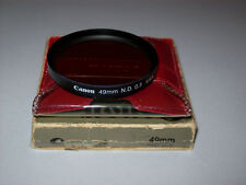 VINTAGE CANON 49MM ND 0.3 SCREW IN FILTER WITH CASE AND BOX MADE IN USA