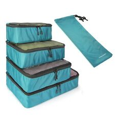 5pcs Travel Luggage Organizer Set WaterResistant Packing Cube Storage Shoe Bag