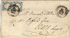 1861 Province Napoletane - lettera 2+2 grana II porto ann. Campobasso