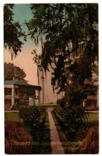 LA Louisiana State University LSU Baton Rouge President's Walk Scene Postcard