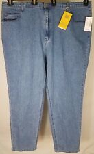 NWT Liz & Me tapered leg relaxed fit medium wash denim jeans womens 8 Average