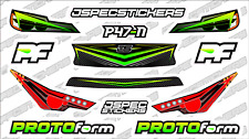 CUSTOM RC BODY HEADLIGHT GRILL STICKER DECAL SET PROTOFORM P47-N 1/10 GREEN YELL