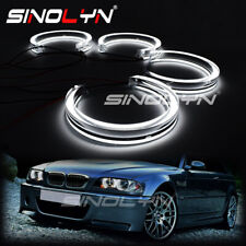 LED Acrylic DTM M4 Style Angel Eyes For BMW E46 Halogen Projector Headlight DIY