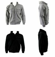 Men's Hoodie Hooded Top Zip Up Jumper w Fleece Casual Sports