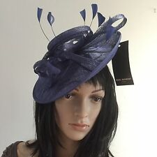 NIGEL RAYMENT NAVY BLUE WEDDING OCCASION FASCINATOR DISC HAT MOTHER OF THE BRIDE
