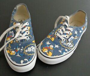 DISNEY x VANS Donald Duck Casual Shoes Sneakers Women's 5.5 Men's 4 Free Ship