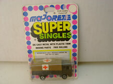 MAJORETTE SUPER SINGLES 1:100 SCALE MILITARY SAVIEM RED CROSS TRUCK NEW ON CARD