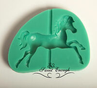 CAROUSEL HORSE Silicone Mould mold Chocolate Cupcake Toppers Cake