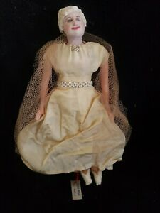 "1940's Bernard Ravca Needle Sculpted 8 1/2"" Mrs. Truman Presidential Wife Doll"
