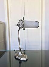 Grande lampe Art Déco en bronze et pâte de verre Lampe de Bureau , Table
