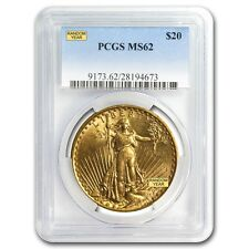 $20 Saint-Gaudens Gold Double Eagle Coin - Random Year - MS-62 PCGS - SKU #7222