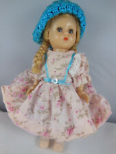 "VINTAGE 1950s HARD PLASTIC A Hollywoo 8"" DOLL with blond hair and blue eyes"