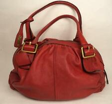 Grandi Abro Red Leather Shoulder bag shopper handbag tote