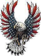 """USA Flag Eagle  Sticker / Decal size 5"""" tall for car, truck, van, laptop, walls"""