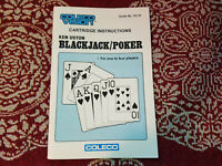 Blackjack / Poker - Coleco Vision - Authentic - Manual Only!