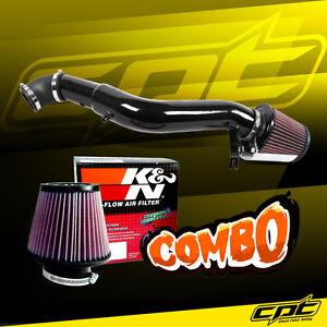 For 05-10 Jeep Grand Cherokee 3.7L V6 Black Cold Air Intake + K&N Air Filter