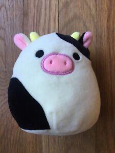 """Squishmallows Connor the Cow 5"""" Squishmallow Small Plush Kellytoy HTF RARE"""